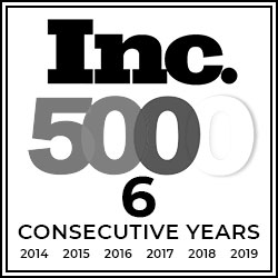 Inc 5000 6 years in a row